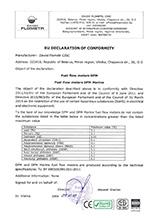 DFM, DFM Marine. EU Declaration of conformity RoHS