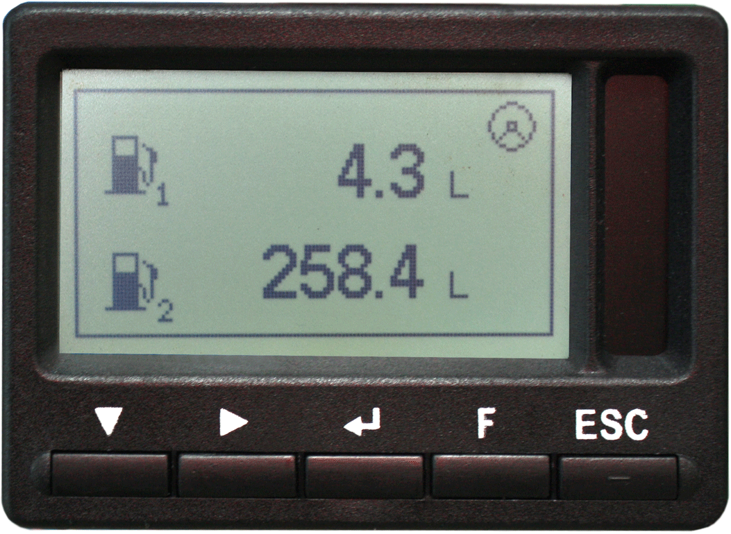Fuel volume of Tank 1 and Fuel volume of Tank 2