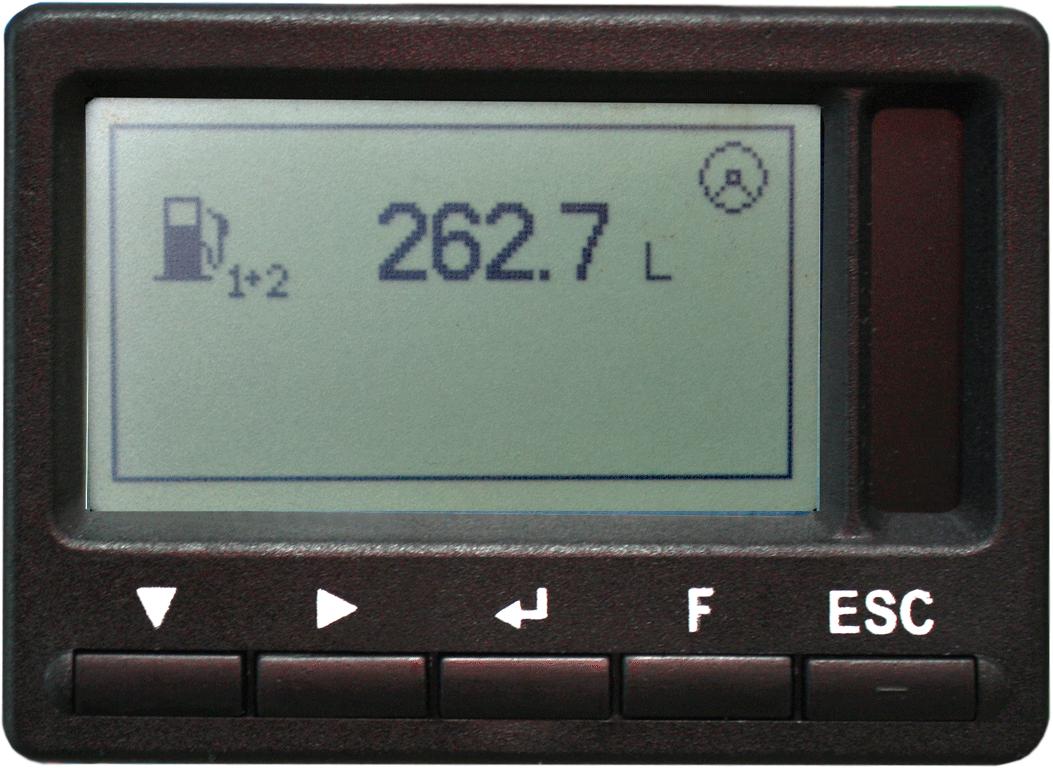 Total fuel volume of Tank 1 + Tank 2