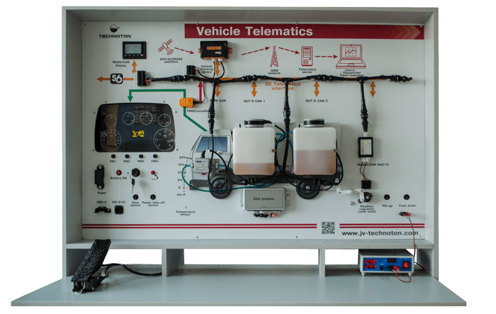 """Vehicle telematics"" educational trainer. Truck"