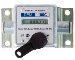 Autonomous DFM fuel flow meter with display