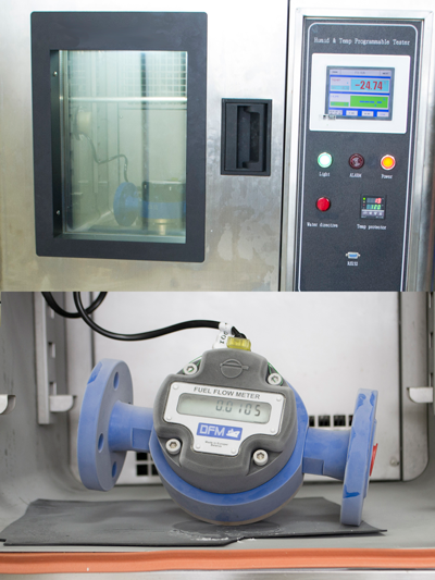 Испытания расходомера DFM Marine в камере тепла и холода.