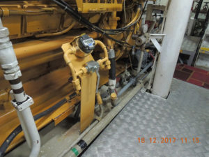 расходомер смонтирован на специально изготовленную пластину крепления.