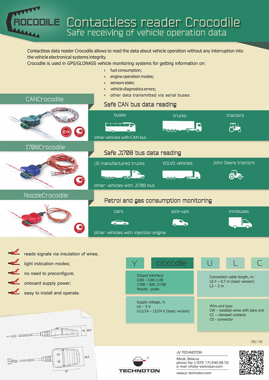 "Leaflet ""Safe receiving of vehicle operation data"""