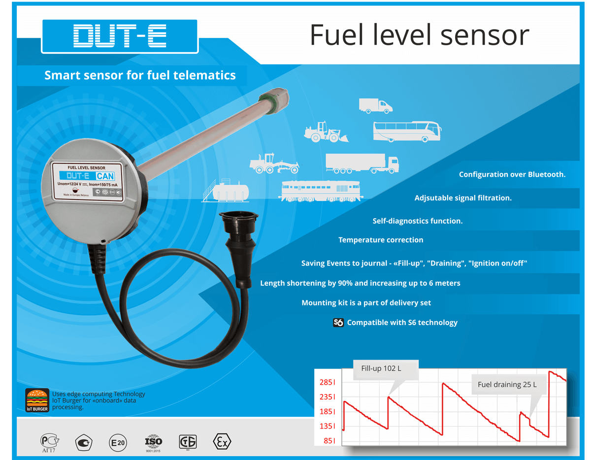 DUT-E fuel level sensor advantages
