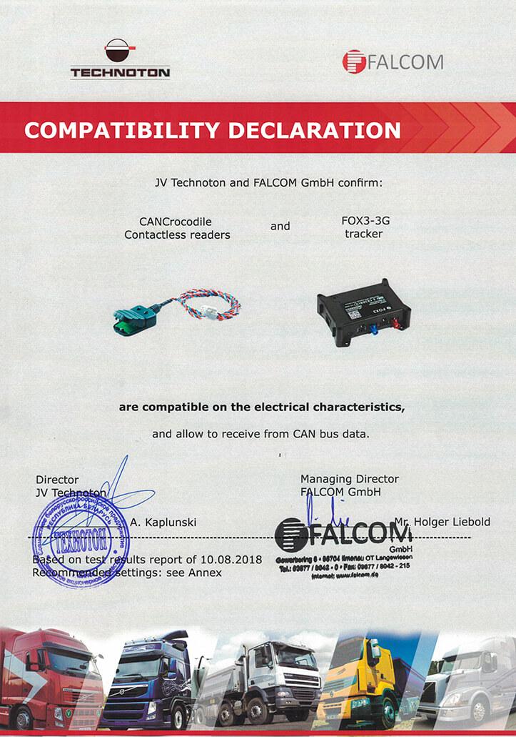 CANCrocodile and Falcom-FOX3-3G are competible