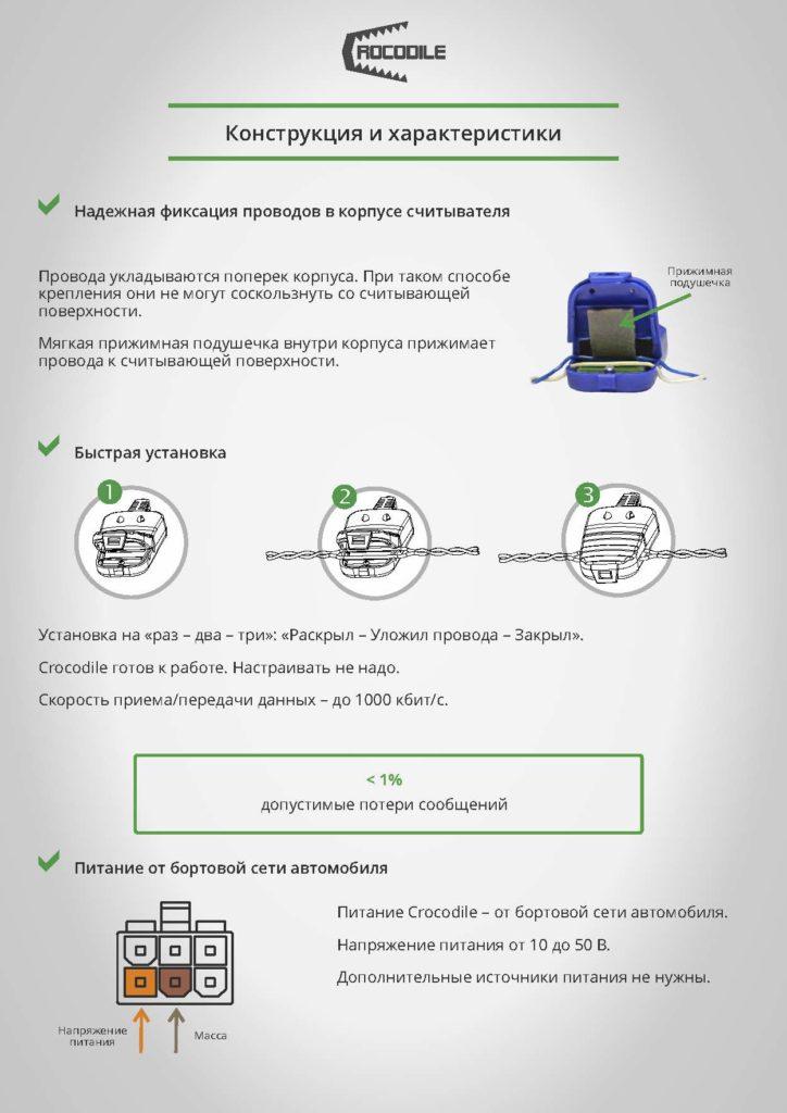 Установка бесконтактных считывателей Crocodile - CAN j1939 ит j1708