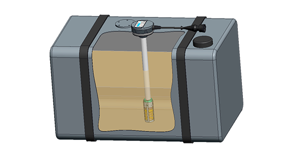 Fuel-level-sensor-in-tank