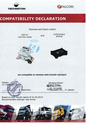 Compatibility Declaration Falcom terminal and  DFM S7 Technoton