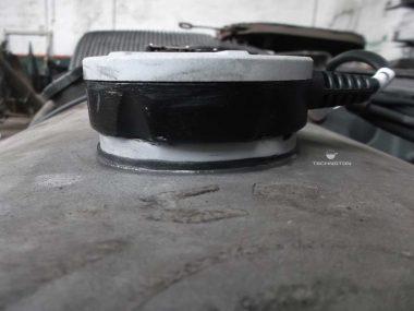 Установка датчика уровня топлива на круглый бак
