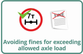 Avoiding fines for exceeding allowed axle load