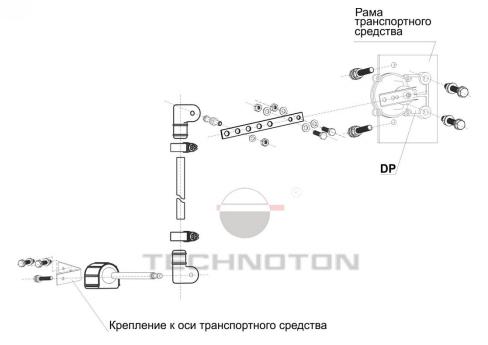 Схема установки GNOM DP S7 на двухосное ТС