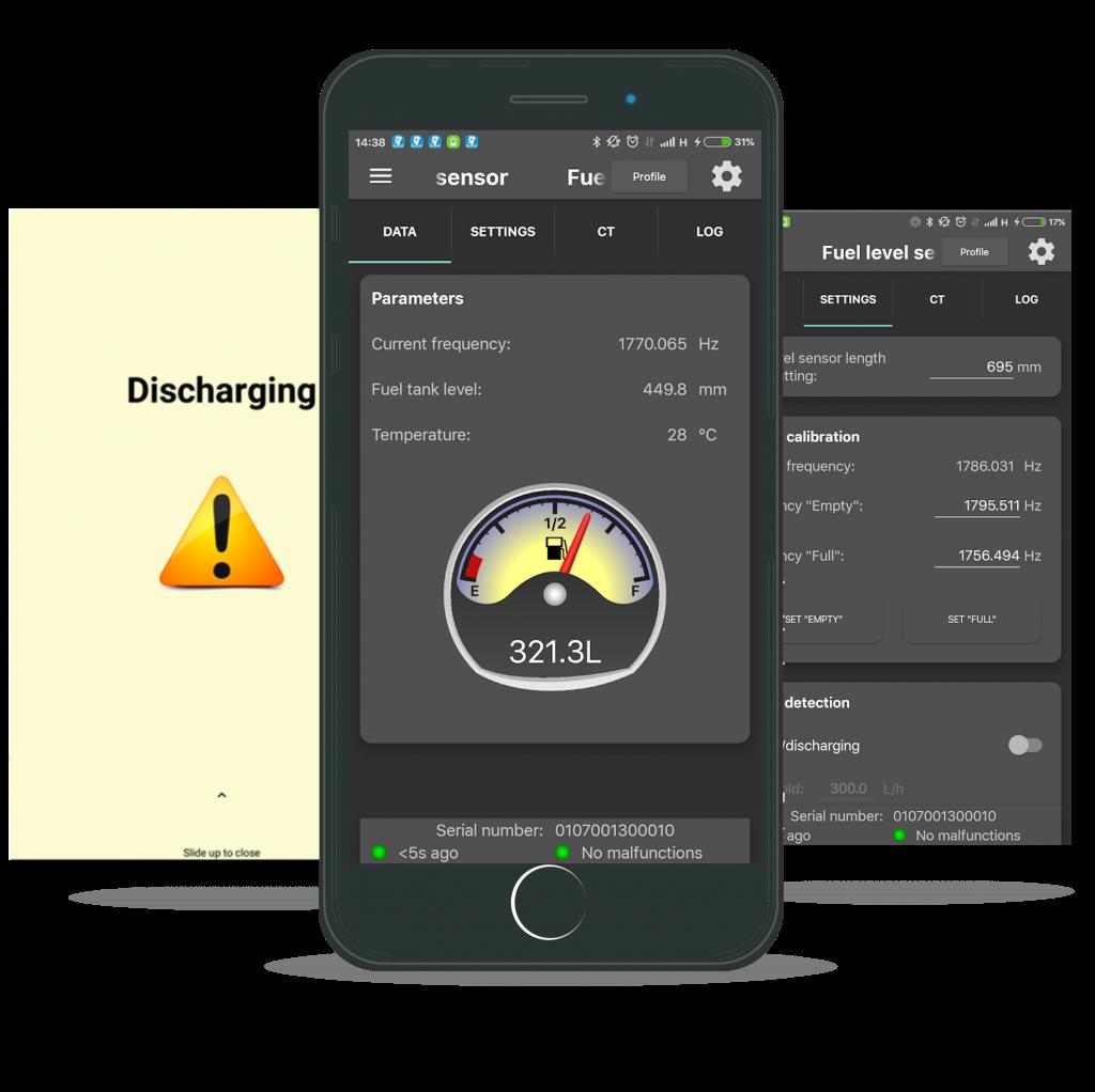 Smarpthone app for wireless BLE sensors