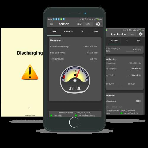 Fuel Tank Monitor smartphone app
