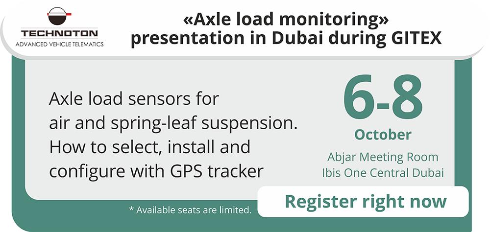 AXLE LOAD MONITORING PRESENTATION IN DUBAI