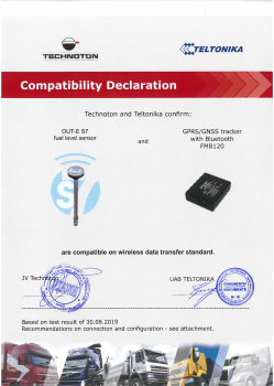 Teltonika FMB120 and Technoton DUT-E S7