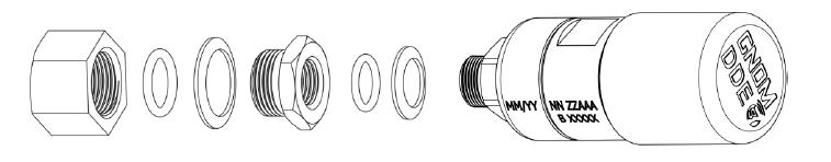 Монтаж датчика осевой нагрузки в штатное отверстие пневмоподушки