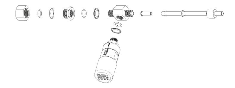 Установка датчик осевой нагрузки в разрез магистрали пневмоподвески