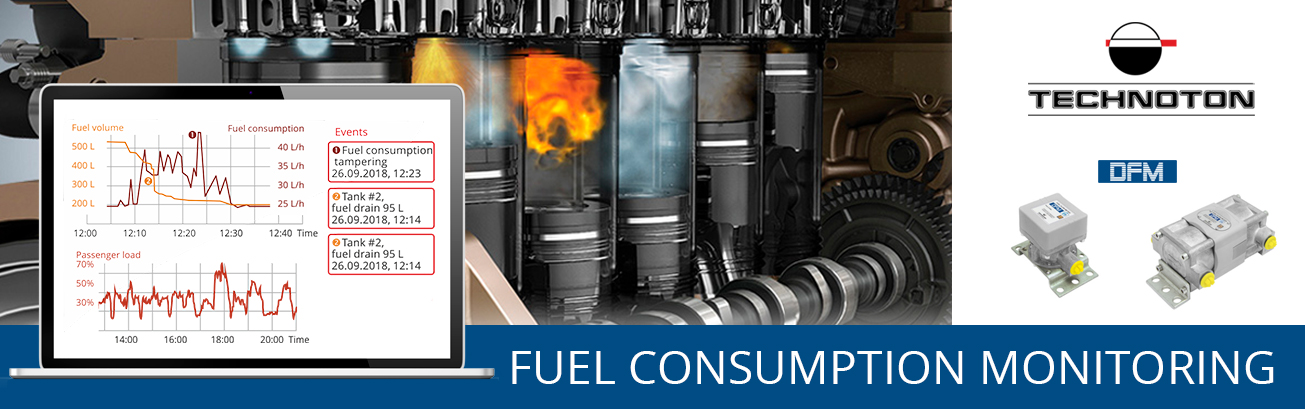 Fuel consumption monitoring with DFM flowmeter