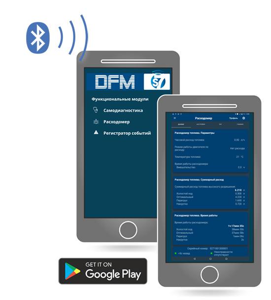 Мобильное приложение для беспроводного расходомера топлива
