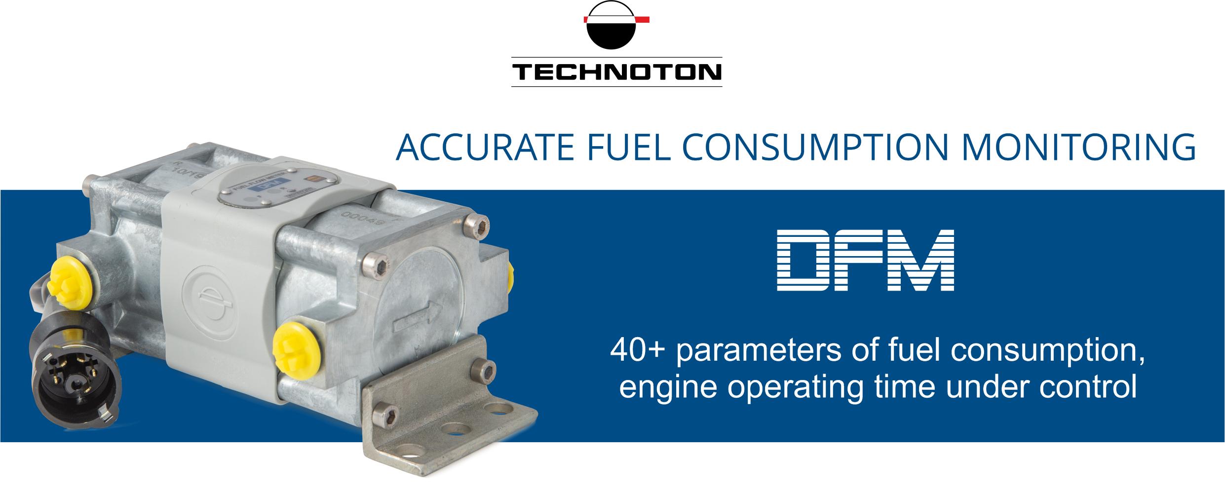 DFM flow meter - accurate fuel rate monitoring