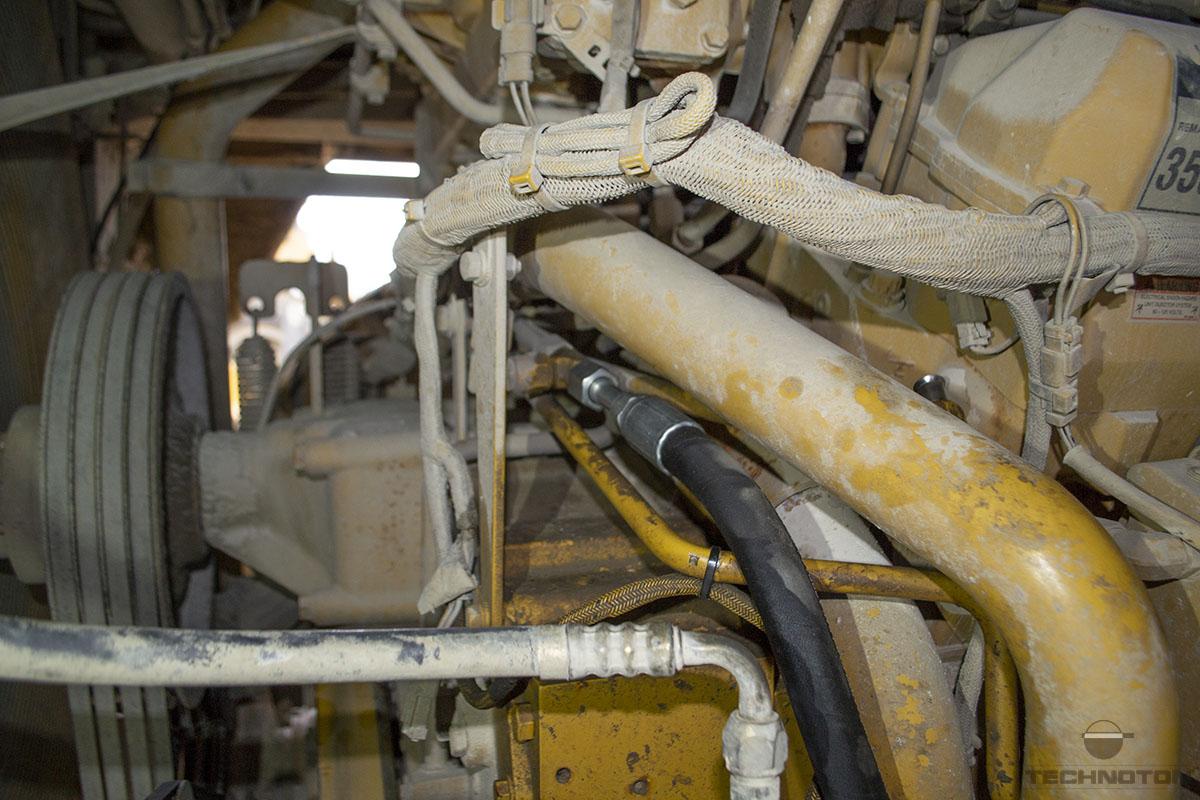 Diesel fuel injection pump input of tip-truck