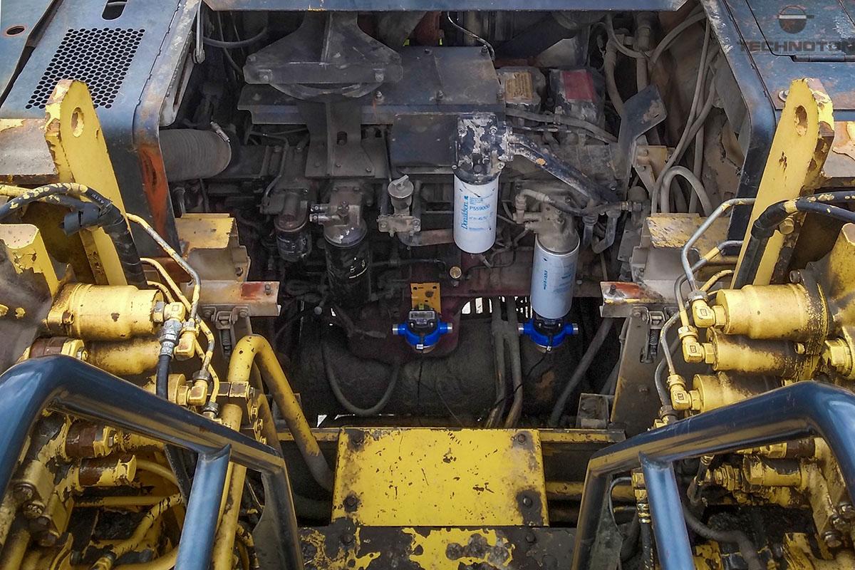 Los medidores de flujo DFM Marine están incluidos en el sistema de combustible Komatsu PC1800