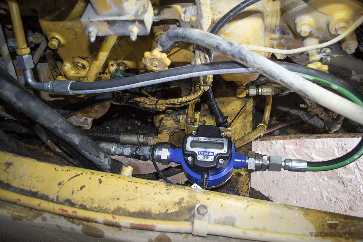 DFM Marine in a fuel system of CAT 777D tip-truck