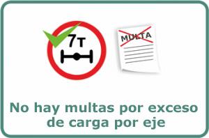 No hay multas por exceso de carga por eje