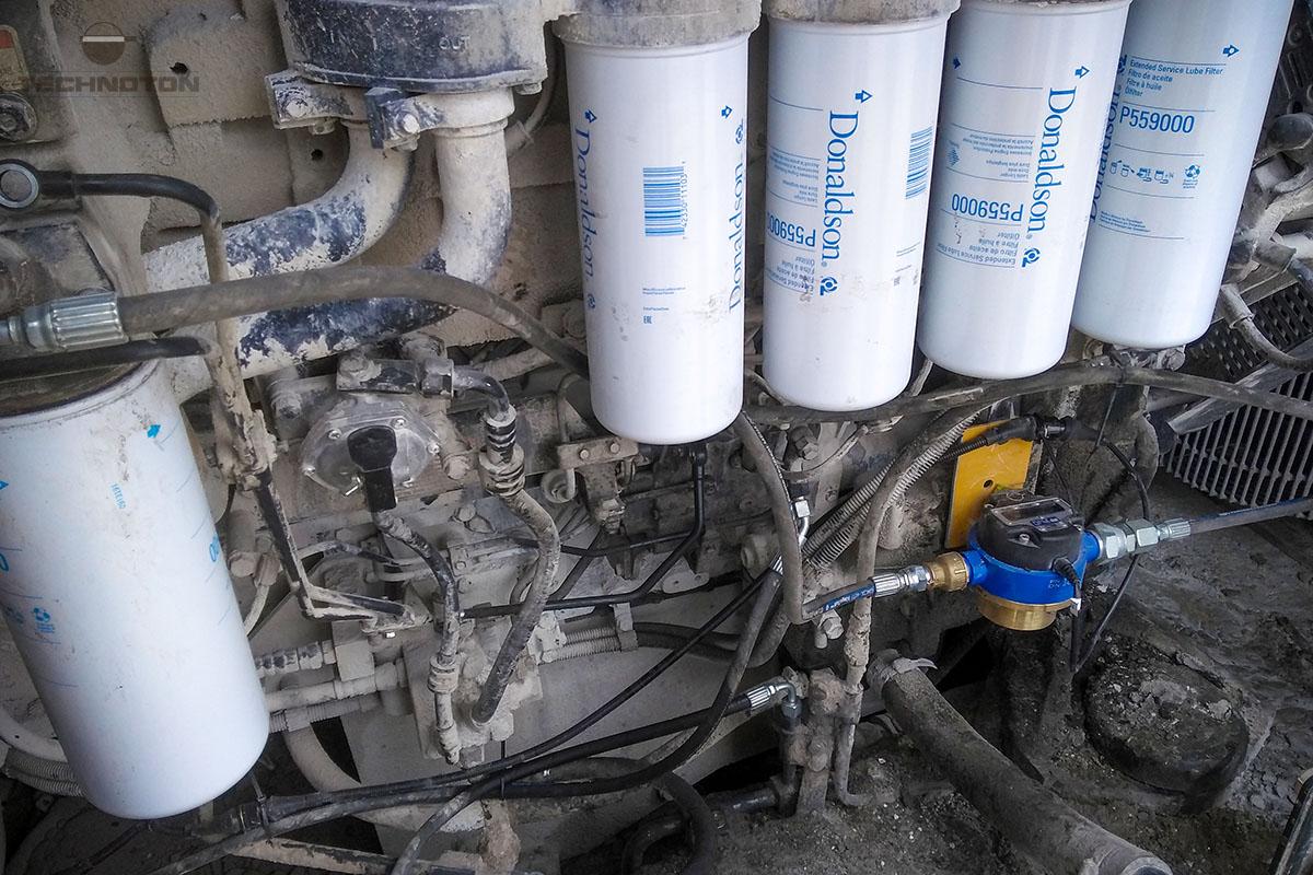 Medidor de flujo en el sistema de suministro de combustible