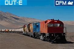 Instalación de medidores de flujo DFM Marine, sensores de nivel de combustible DUT-E en la locomotora