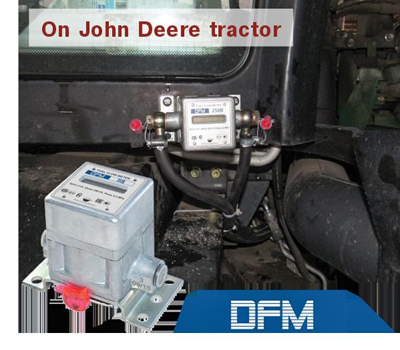 Fuel flow meters were mounted on John Deere 8310R tractors
