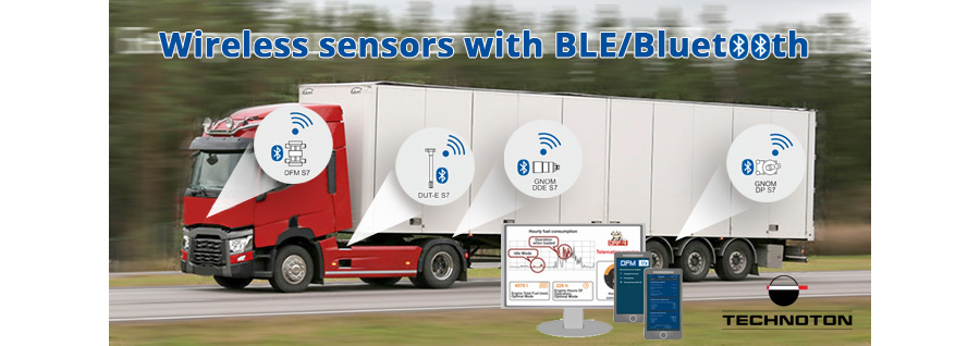 Wireless sensors with BLE