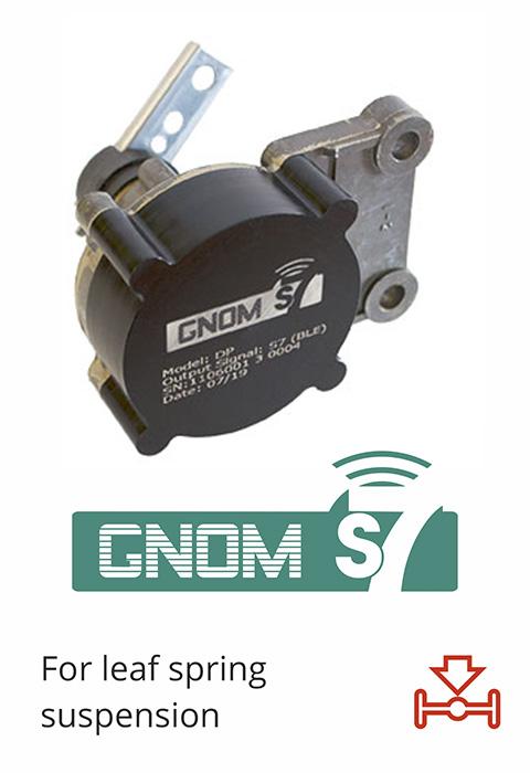 Wireless axle load sensor for leaf spring suspension