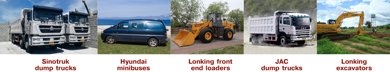 Automotive and road construction equipment